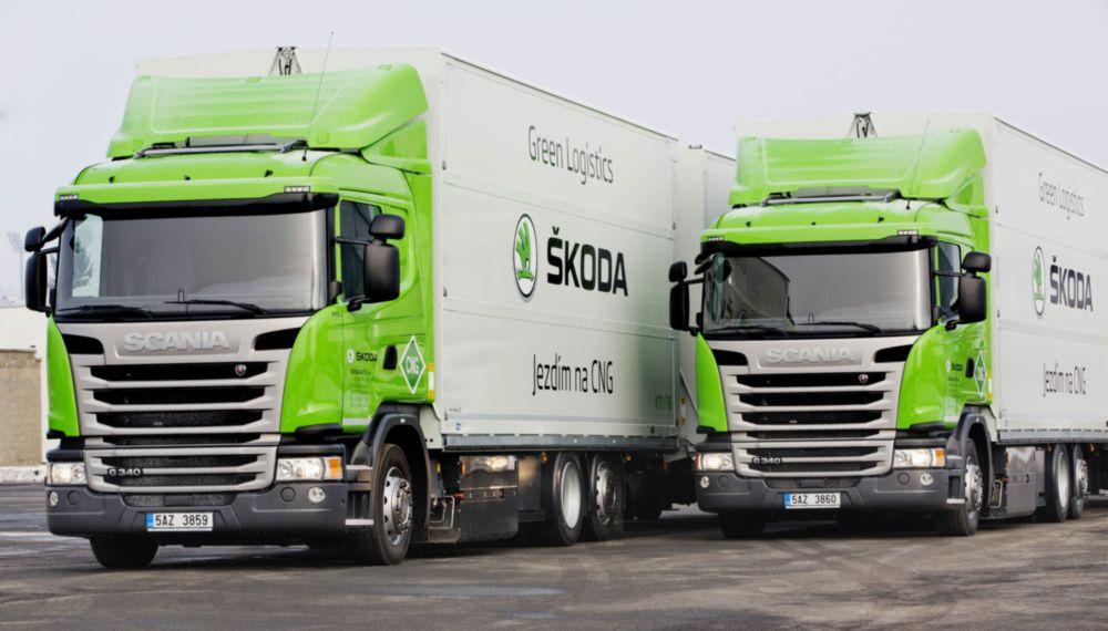 Scania járműveket használ a Škoda, hogy csökkentse a szén-dioxid-kibocsátást