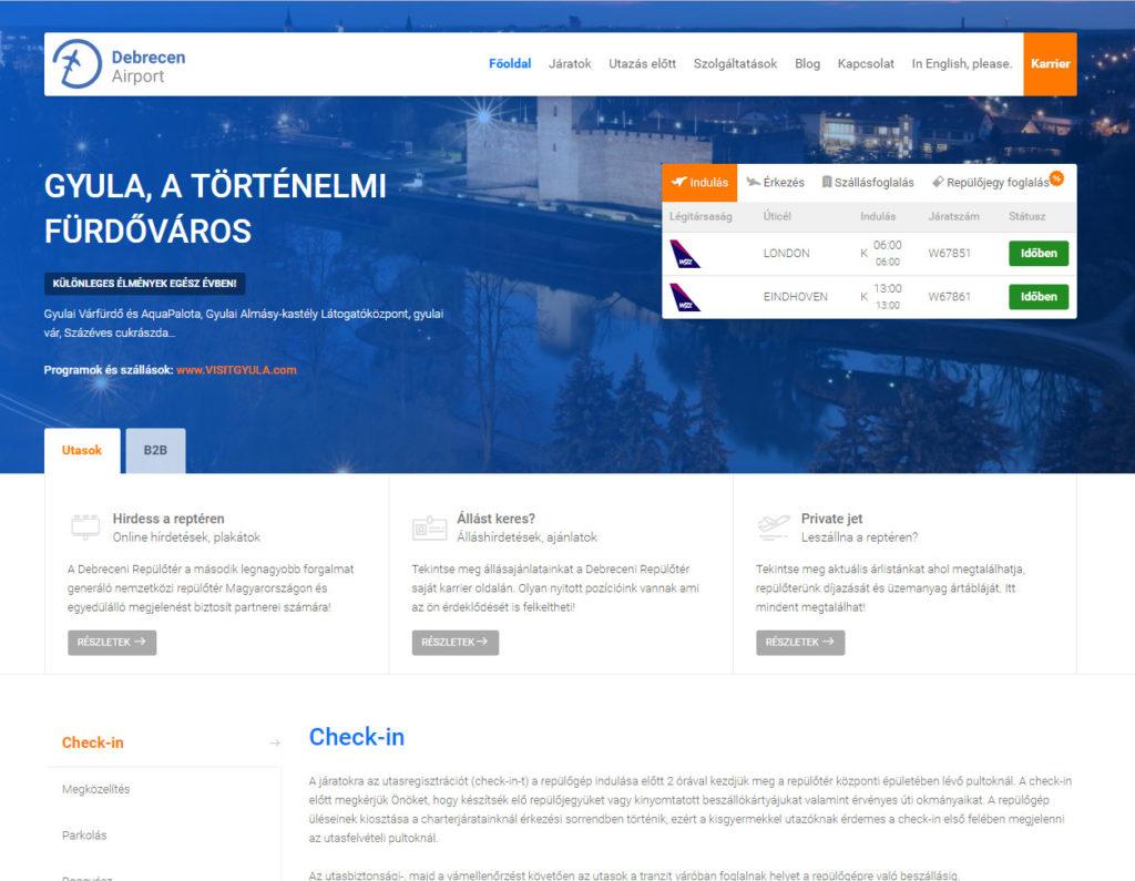 Megújult honlap, mobil applikáció a debreceni repülőtéren