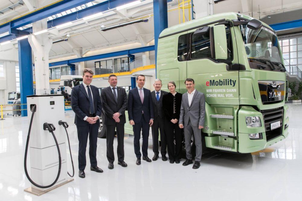 Elektromos MAN tehergépkocsik tesztje Ausztriában