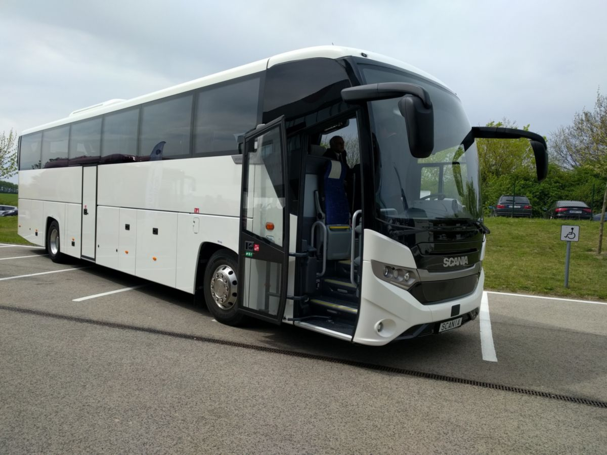 A Scania legújabb típusával, a Scania Interlinkkel látogatott ki a BusExpora
