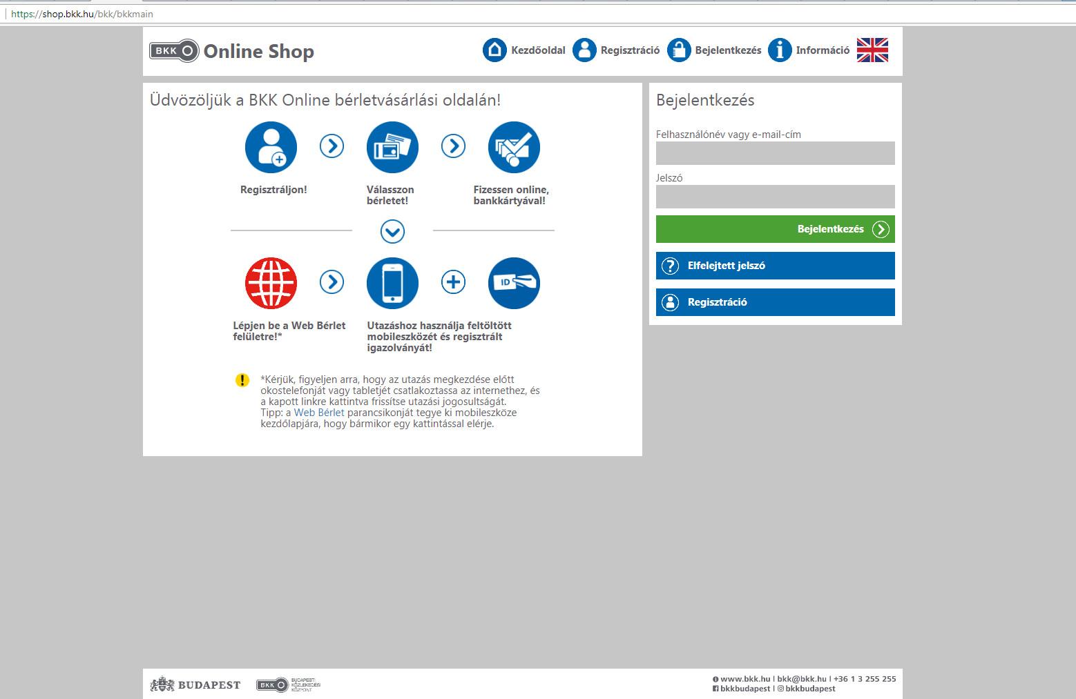 Elindult a BKK online értékesítési rendszere
