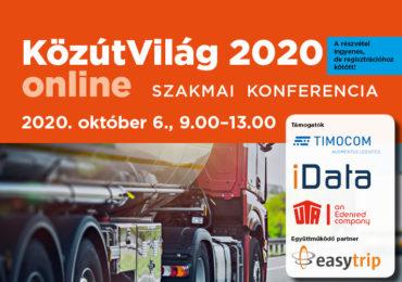 KözútVilág 2020 – online szakmai konferencia