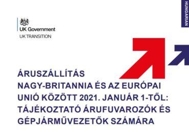 Az árufuvarozás Nagy-Britannia és az EU között 2021. január 1-től