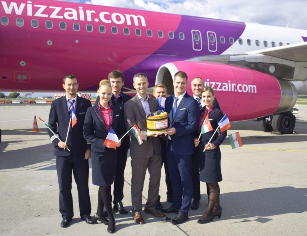 Elindult a Wizz Air Budapest-Bordeaux járata