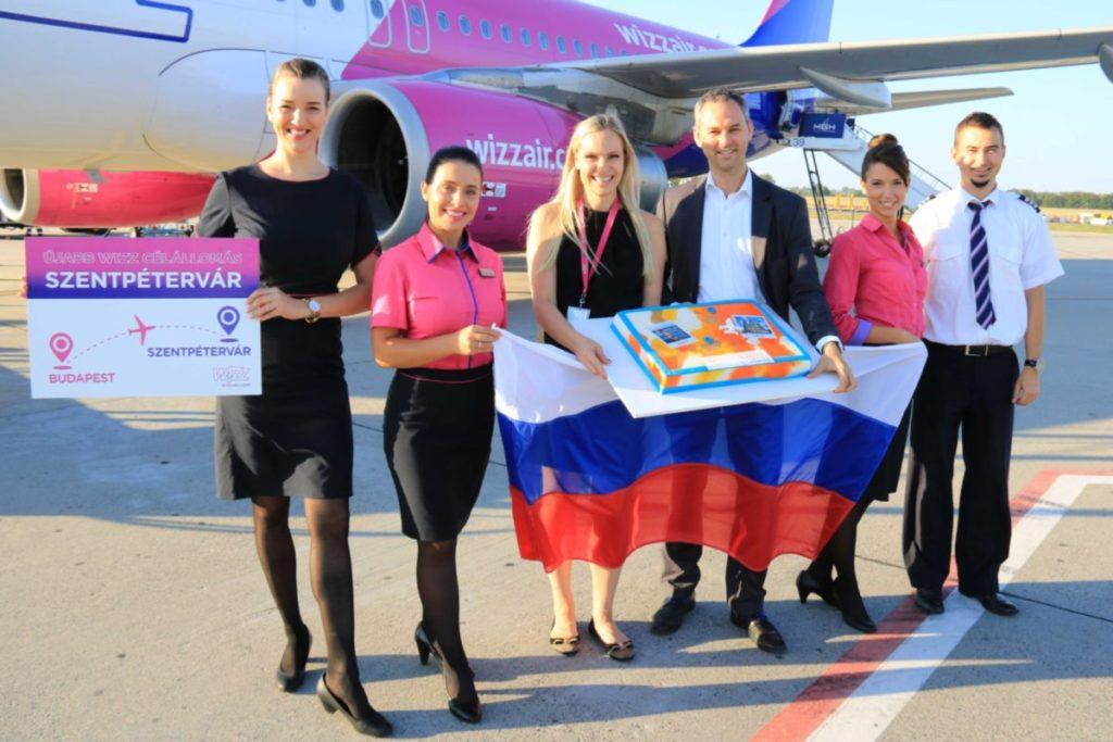 Elindult a Wizz Air Budapest-Szentpétervár járata