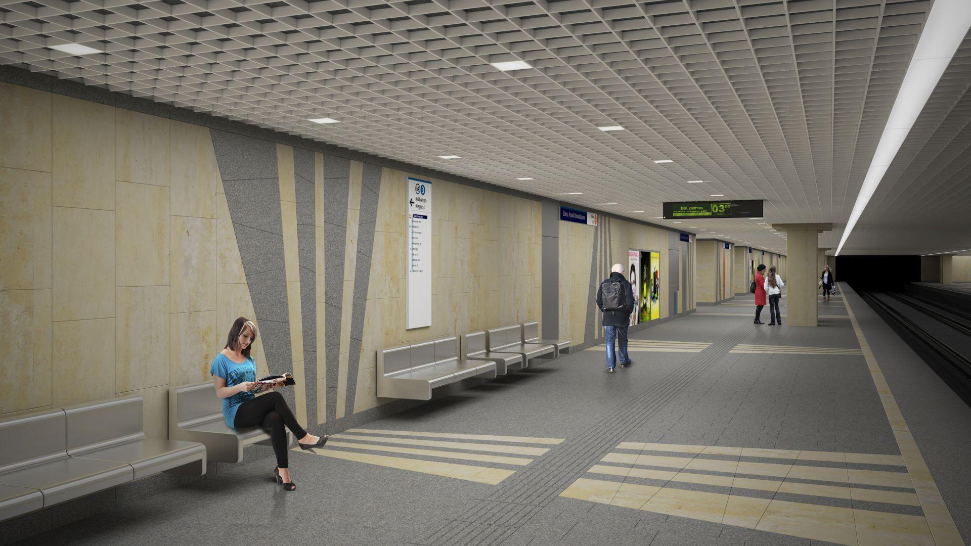 Látványtervek a 3-as metró felújított állomásairól