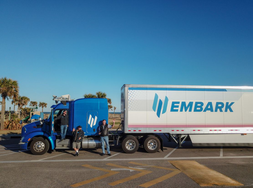 Átszelte Amerikát az önvezető kamion