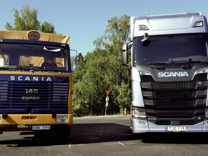 Új az öreg ellen: négy veterán gépkocsivezető és két legendás Scania tehergépkocsi